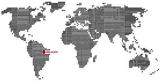 Weltkarte zu unserem Espresso aus Brasilien